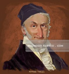 Carl Friedrich Gauss caricature mahmood tabrizi