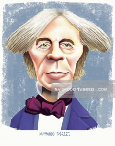 Michael Faraday caricature mahmood tabrizi