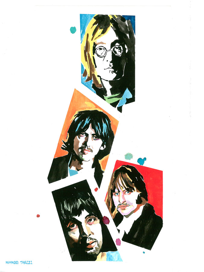Beatles painting mahmood tabrizi
