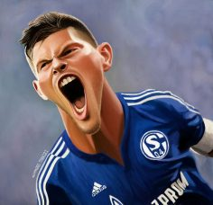 Huntelaar caricature