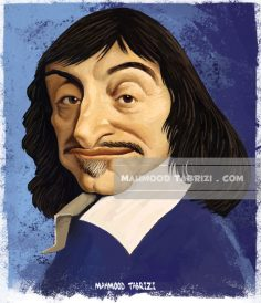 René Descartes caricature mahmoud tabrizi