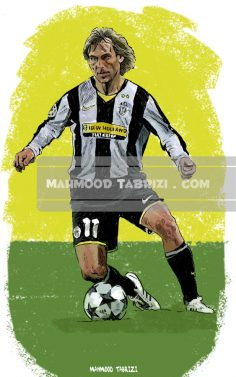 mahmood tabrizi Pavel Nedved painting