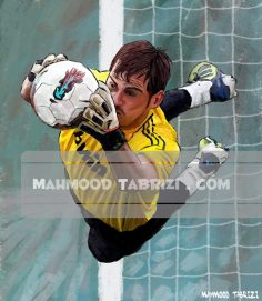 mahmood tabrizi Iker Casillas painting
