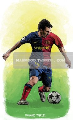 messi painting mahmood tabrizi