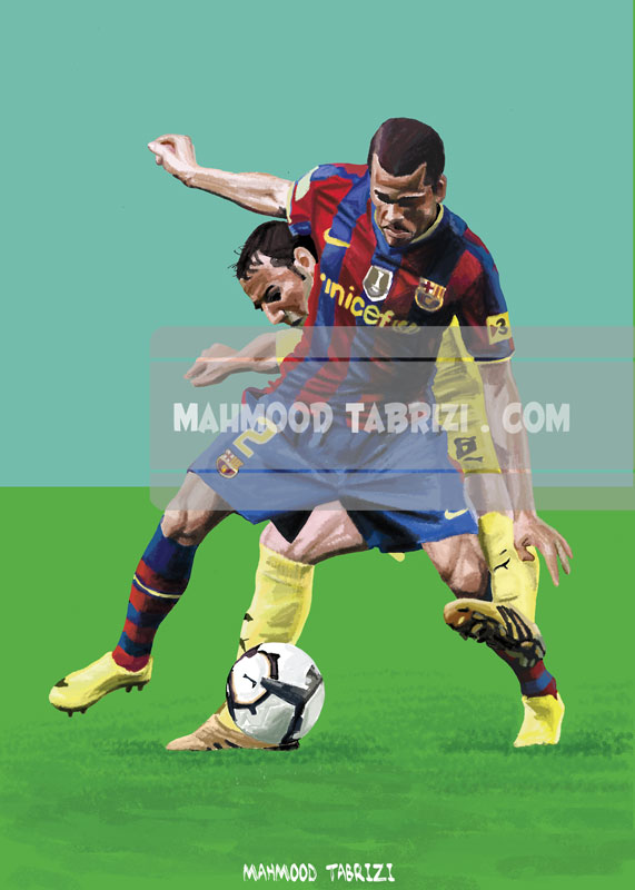 Dani Alves painting mahmoud tabrizi