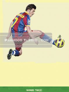 David villa painting mahmood tabrizi