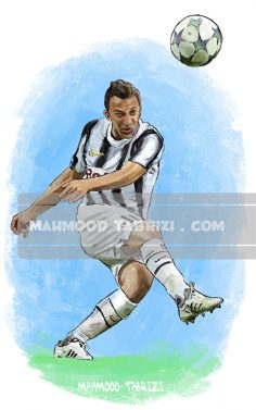 Del Piero painting mahmood tabrizi
