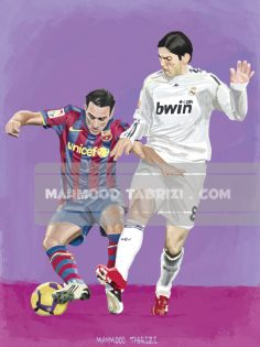 Football Painting mahmoud tabrizi