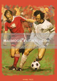 germany football painting mahmoud tabrizi