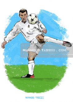 real madrid painting mahmoud tabrizi