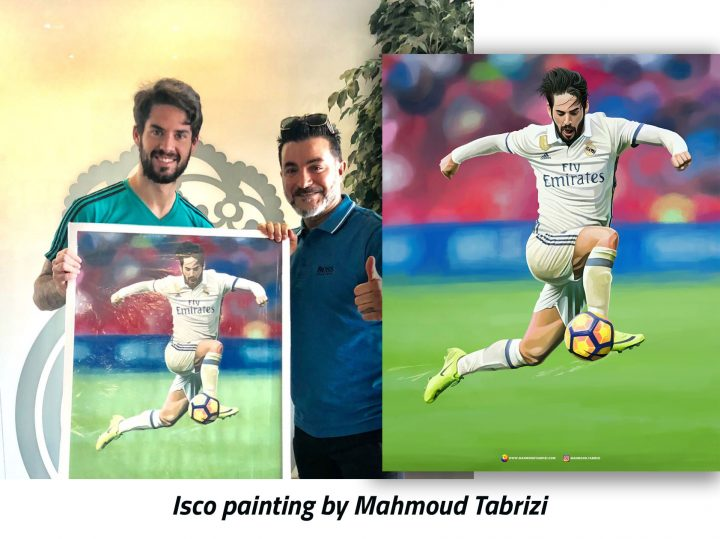 Isco painting by Mahmoud Tabrizi