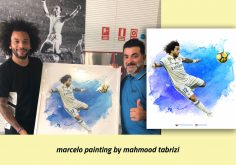 Marcelo painting by Mahmoud Tabrizi