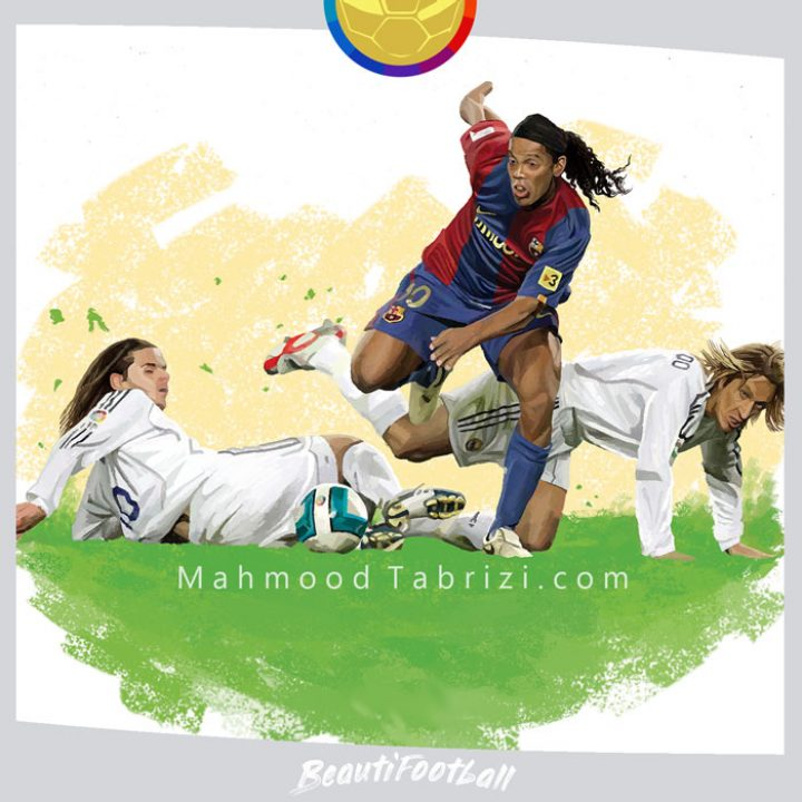 Football painting _ El Clasico painting
