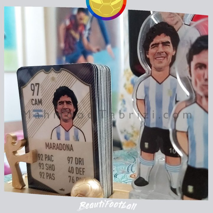Football toy _ football card _ football art