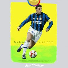 Inter Milan player's Painting _ soccer painting