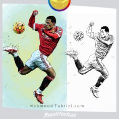 Manchester player's Painting _  football painting