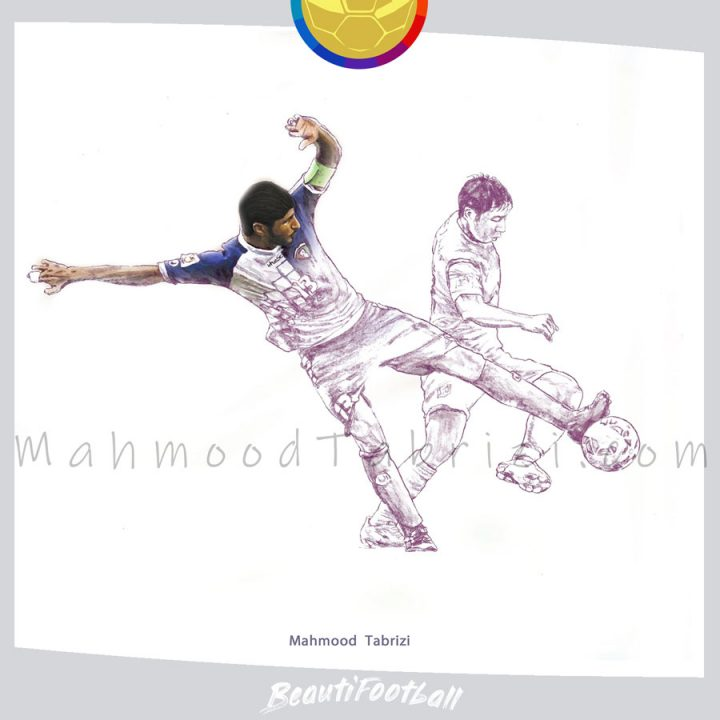Musaed Neda_painting Mahmood Tabrizi football painter soccer