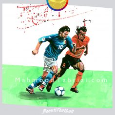 Painting Delpiro _ Painting by Edgar Davids _ Watercolor painting with gouache
