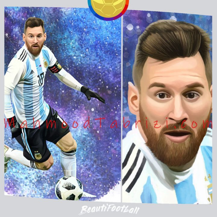 Painting Messi art _ Painting Argentine footballers