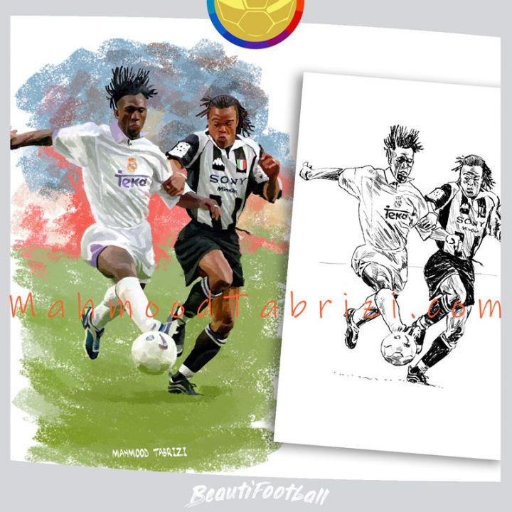 Painting and drawing Dutch footballers