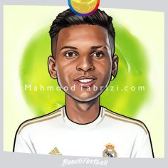 Rodrygo Painting Real Madrid painting