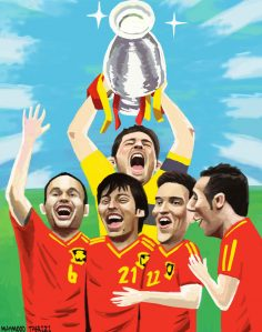 Spain national football team caricature