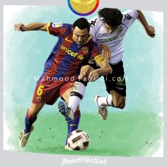 Xavi Painting soccer painting