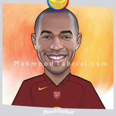 a painting of Thierry Henry FIFA card order Beautifootball card