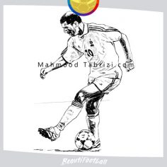 drawing soccer art