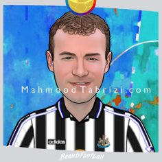 football carte Beautifootball alan shearer painting