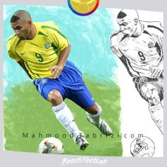 football player painting _ soccer player painting
