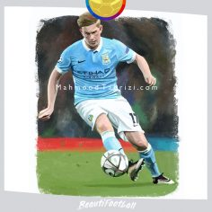 kevin de bruyne Painting soccer painting