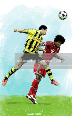 mahmoud tabrizi Robert Lewandowski painting