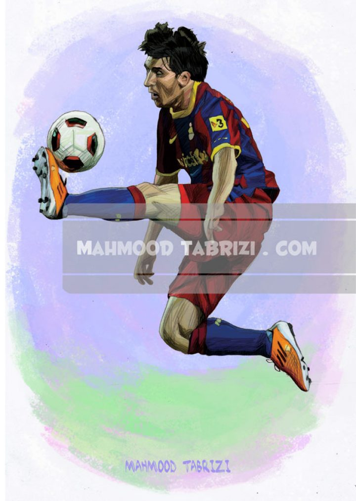 messi painting mahmoud tabrizi