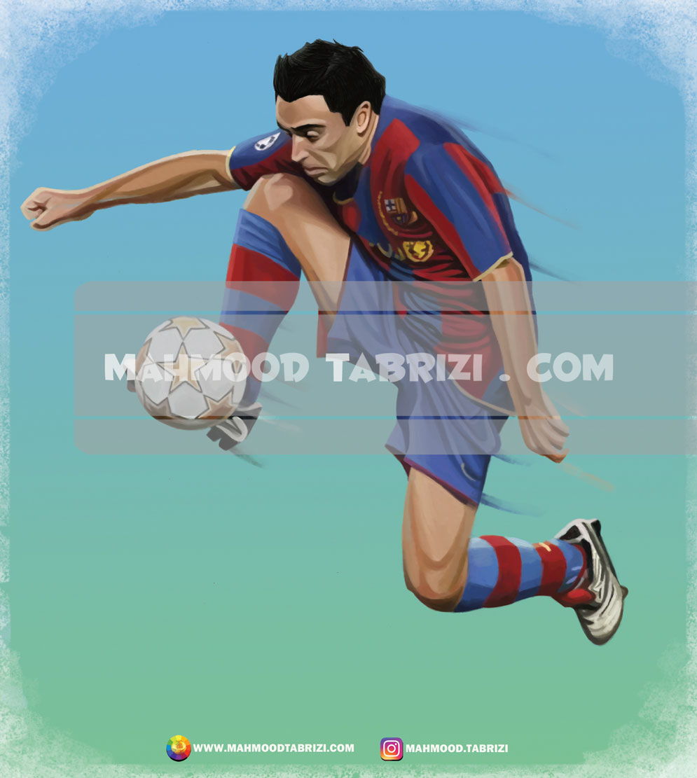 Painting football players in Barcelona