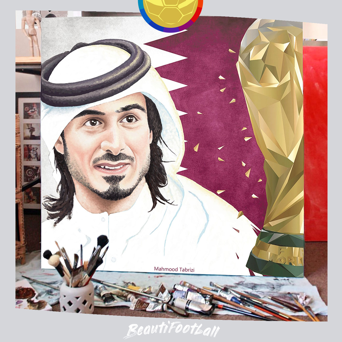 International painter and artist in the field of sports painting and football _ Qatar ART _ Qatar Paintings