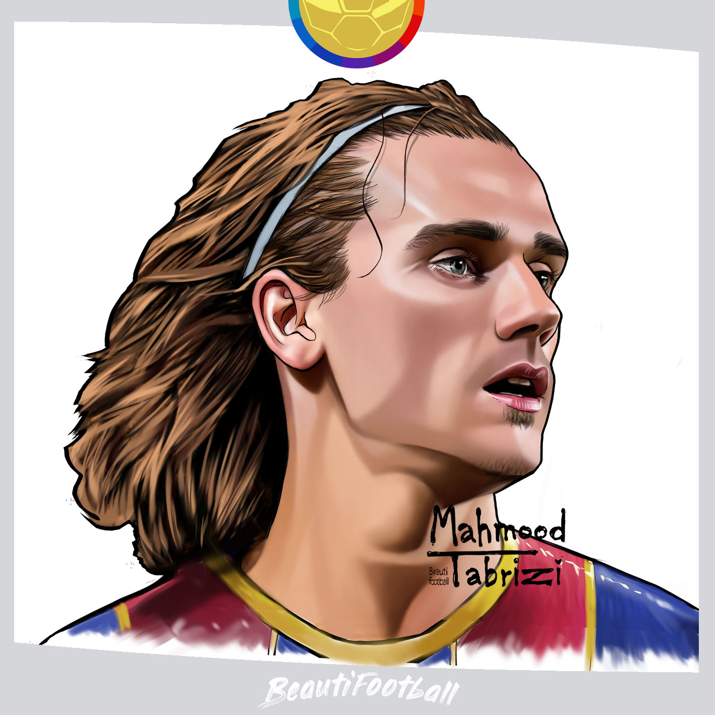 griezmann painting fc barcelona painting by mahmood tabrizi